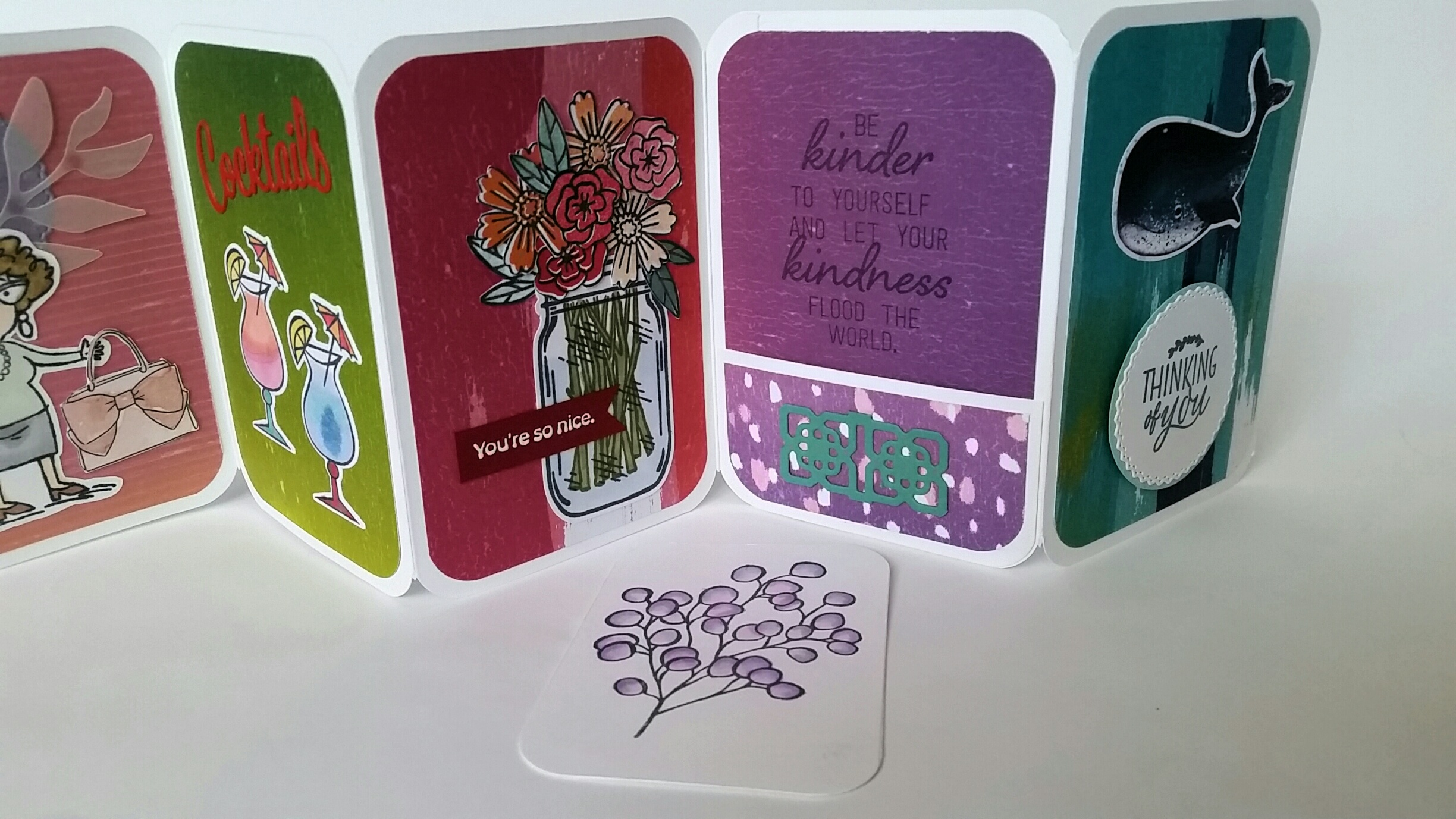 Mini Accordion Card With Pockets & Tags Tutorial