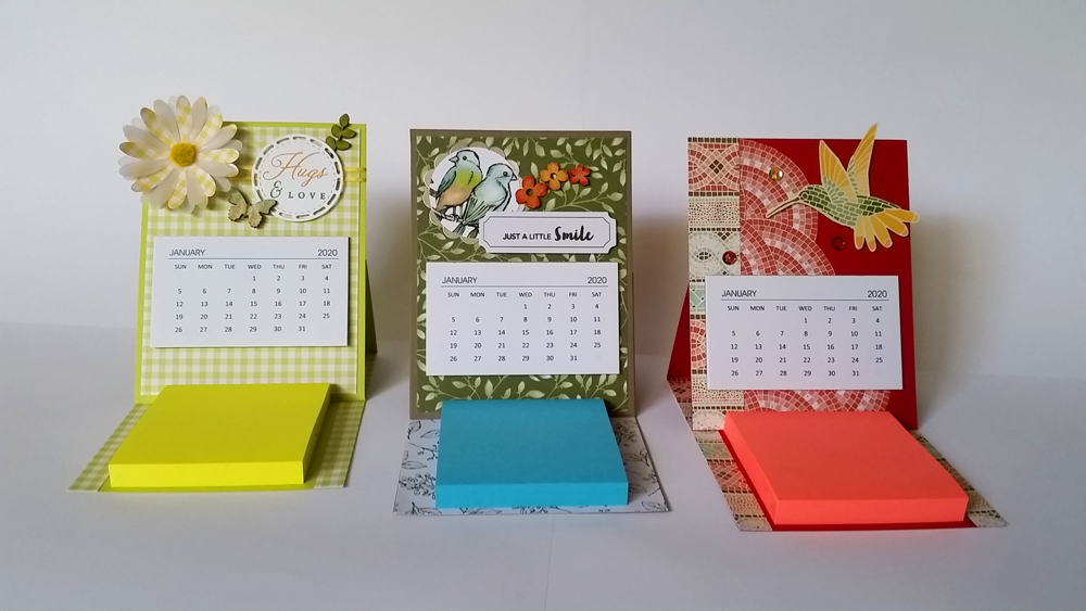 Padded Mini Calendars - English - Shipped in CANADA