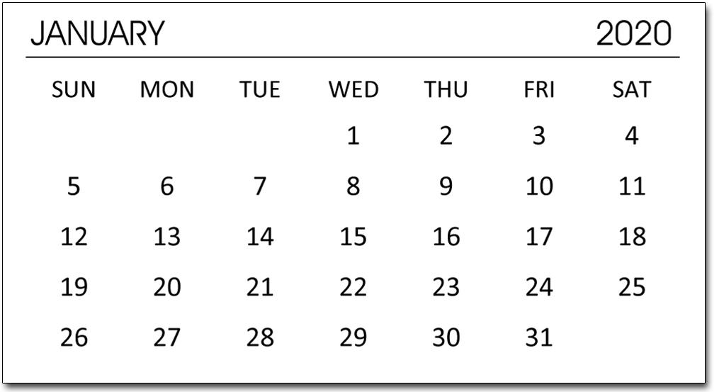 Padded Mini Calendars - English